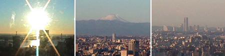 快晴で富士山も横浜も見えてます。