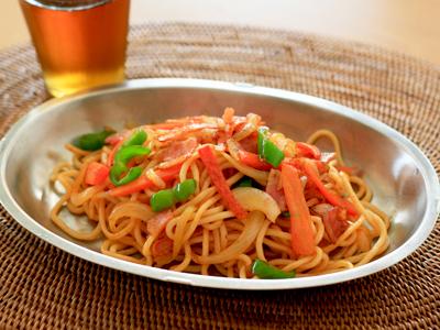 ソフト麺ナポリタン
